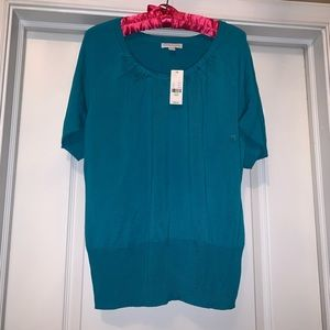 NY&CO turquoise knit top